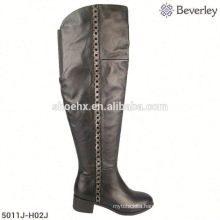 Hot sale new fashion mid heel lady overknee boot in large size