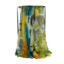 2016 Hot Sale Spring Colorful Lady Lady Chiffon Echarpe