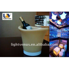 2011 good price large capacity plastic RGB changed led beer bucket