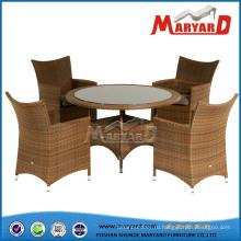 Обеденный комплект обеденный стол и стулья Плетеное кресло