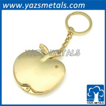 3D apple gold keychain