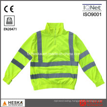 Yellow Knitted Hi Vis Sweater Long Sleeve Safety Shirt