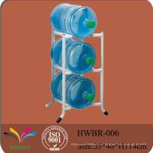Металл 5 галлонов 3 яруса для хранения воды бутылка дисплей стойки стенда