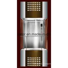 Ascenseur panoramique en forme carrée avec verre à 3 côtés