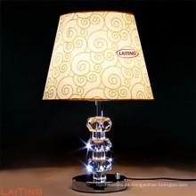 Lámpara de mesa de estilo chino para hotel clásico, lámpara de escritorio con cristal 2217