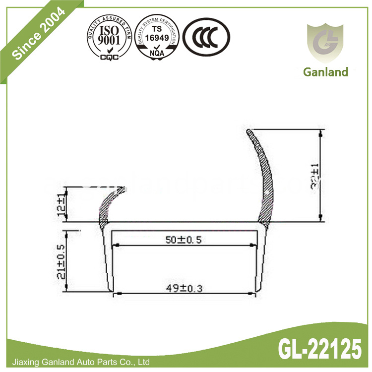 Weather Resistance Door Seal GL-22125