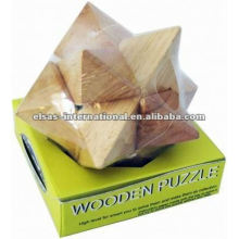 Star angle sharp wooden puzzle, luxury style