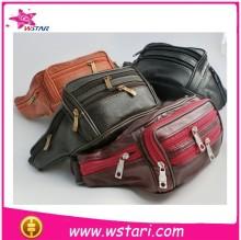 Waterproof leather man waist bag sport waist tool bag