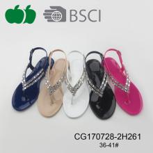 Sandalias cristalinas del diseño hermoso de la mejor calidad