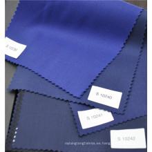 tela polivinílica de alta calidad mezclada azul de la tela cruzada de las lanas para el uniforme del traje