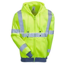 Men's High Visibility Hooded Sweatshirt Jacket