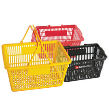 Durable Competitive price Hypermarket Rolling Basket Hypermarket Plastic Basket Wheeled Shop Basket