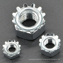 Zinc Plated Grade 4.6, 8 Keps Lock Nut for Furniture