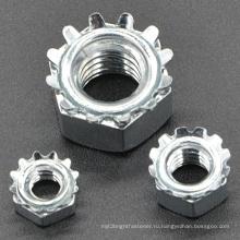 Оцинкованная сталь 4,6, 8 Keps Lock Гайка для мебели