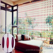Red Streifen Kristall Perle Fenster Vorhänge für Tür