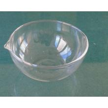 Evaporating Dish Flat Bottom dengan Spout