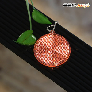 Acrylic+colorful+round+shape+reflective+Key+Chain