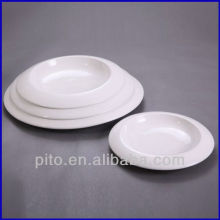 chaozhou porcelain factory wide porcelain round deep plate soup plate