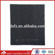 Tissu de lunettes de microfibre avec logo en poudre d'argent; Tissu de nettoyage d'objectif avec logo personnalisé; Tissu de nettoyage de lunettes de soleil