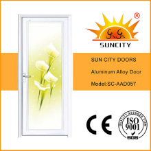 Цветок дизайн белый цвет двери ванной комнаты (СК-AAD057)