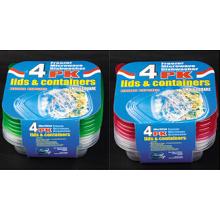 Sqaure Plastik nehmen weg Microwavable Nahrungsmittelbehälter 20oz