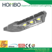 5 years warranty 150 watt aluminum adjustable cob bridgelux sensor led street light