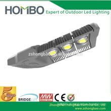 5 anos de garantia 150 watts de alumínio ajustável coelho bridgelux sensor levou luz de rua