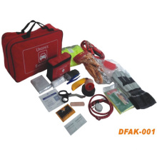 Kit de primeros auxilios para emergencias automotrices con rojo (DFK-001)