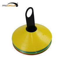 Cones do disco do futebol do futebol dos esportes para a velocidade que traning