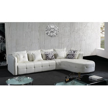 Unique white leather living room sofa KW340