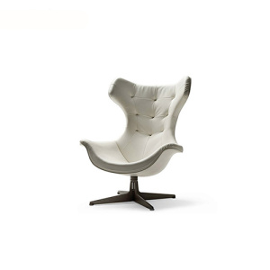 Poltrona Regina II Swivel Painted Steel Armchair