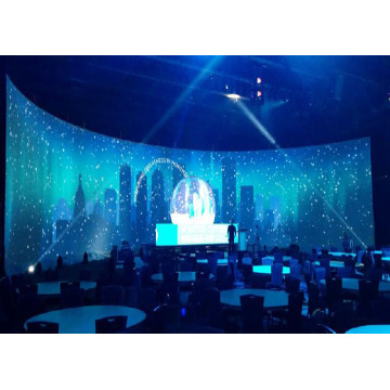 Low Power Consumption 500*1000 Indoor Curved LED Display