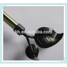 Plastic Decorative Curtain Rod Leaf Finials