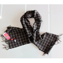100% Yak Wool Scarf / Men′s Yak Wool Scarf / Plaid Yak Cashmere Wool Scarf