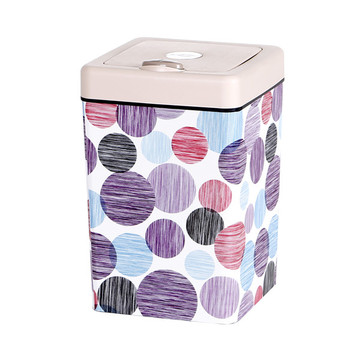 Plastic 13L Flip Square Plastic Trash Can With Lid