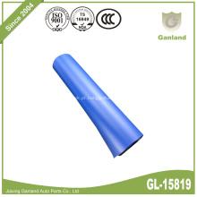 Cobertura de recipiente de latas laterais de cortina azul