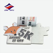 Irregular shape running good quality cheap sport award metal medal