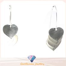 2015 Любовь Серьги Новая мода ювелирные изделия для женщин 925 Серебряная серьга (E6580)