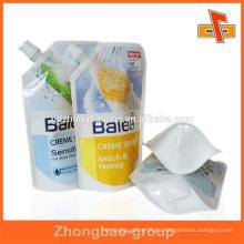 Bolso personalizado de la bolsa del canalón de la bebida del jugo de la alta calidad del mede con la impresión