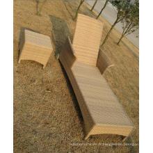 Salon rotin aluminium Frame Chaise Chaise moderne en plein air