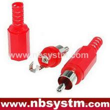 RCA Stecker mit Plastikschwanz rot