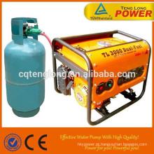 Fase AC monofásica / trifásica 100% saída 6.5 kW potência LPG gerador