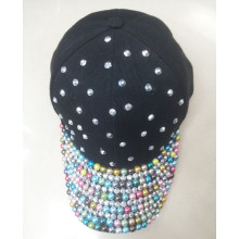 Custom quality handmade rhinestone baseball cap hat