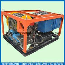 Máquina de limpeza de alta pressão da água da limpeza da tubulação do dreno de esgoto do motor diesel