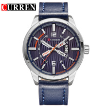 Leather Business Date Quartz Men Wristwatches
