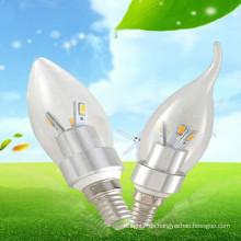 CE & RoHS genehmigt Hause Dekoration milchige Kerze Lampen 3w e14