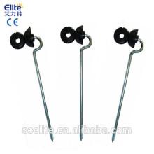 aisladores atornillables de poste de madera / aisladores / aisladores de energizador de cerca eléctrica para línea de cerca / alambre / cinta