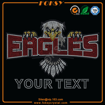 Eagles Your text wholesale rhinestone transfers
