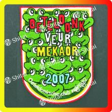 Renewable Design for Sequin Embroidery Patches Frog embroidery patch 2007 supply to Portugal Exporter