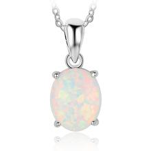 Opal Stone Hot Sale Popular 925 Sterling Silver Jewelry Opal Pendant for Women